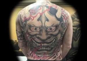 hannya back piece tattoo